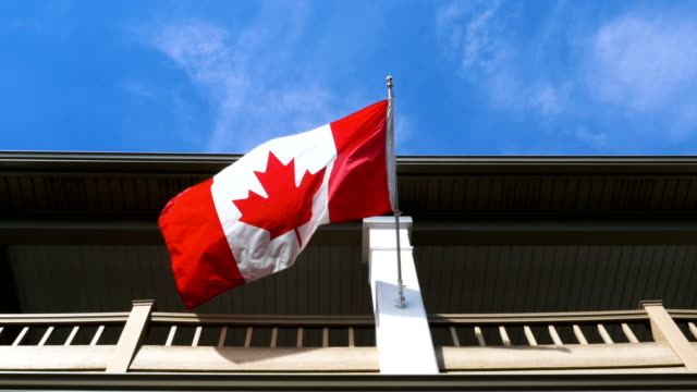 Canadian Flag on a Balcony video