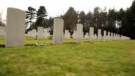 Canadian War Cemetery-rows of gravestones video