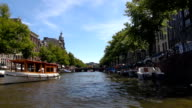 Canal Boat Tour - Amsterdam, Netherlands video