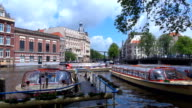 Canal Boats - Amsterdam, Netherlands video