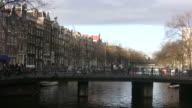 Canal Bridge in Amsterdam video