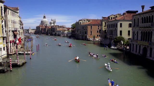 Canal Grande and Basilica di Santa Maria della Salute, Venice, Italy video