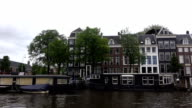 Canal houses on Amsterdam video