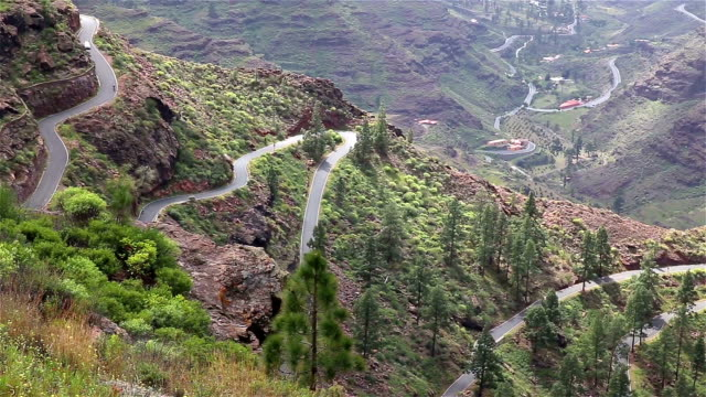 Canary Islands Spain mountain road cycling video