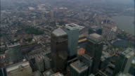 Canary Wharf  - Aerial View - England, Greater London, Tower Hamlets, United Kingdom video
