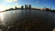 Canary wharf and River Thames HD video video