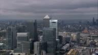 Canary Wharf And Shard  - Aerial View - England, United Kingdom video