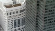Canary Wharf Complex  - Aerial View - England, Greater London, Tower Hamlets, United Kingdom video