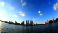 Canary wharf fisheye time-lapse video