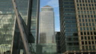 Canary wharf panning timelapse London video