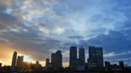 Canary wharf timelapse day and night video