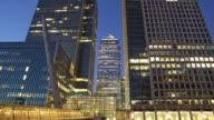 Canary wharf timelapse London video