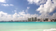 Cancun beach panorama view video