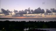 Cancun lagoon at sunset video