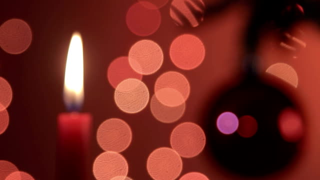 Candle and Christmas ornament video