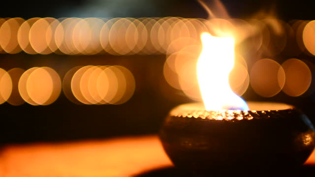Candle bokeh background video