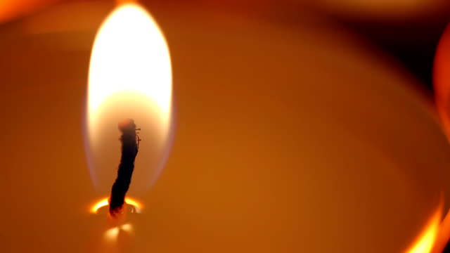 Candle flame affected by strong wind, facing problems, fight to overcome problem video
