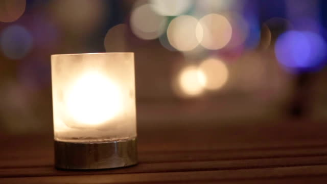 Candle flame in relaxing spa video