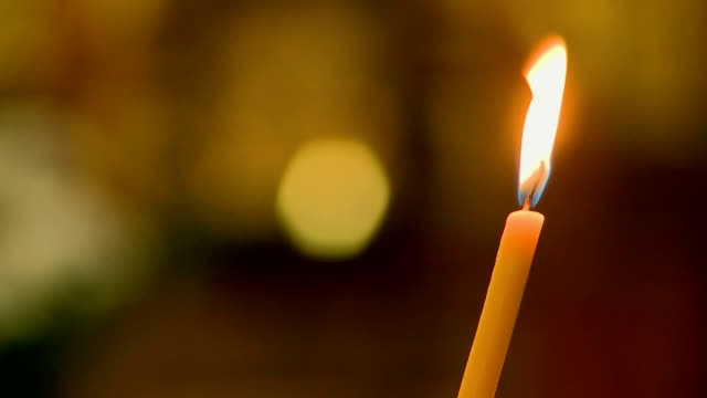 Candle in christian church video