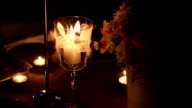 candle in glass in the dark video