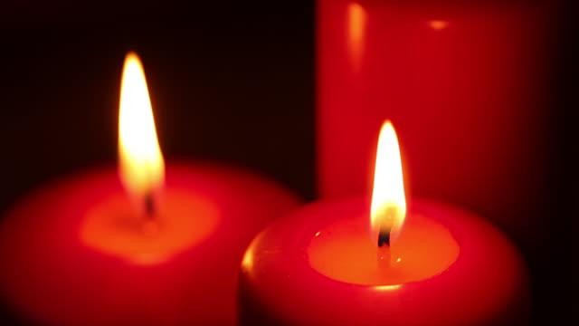 Candle light for Christmas day video