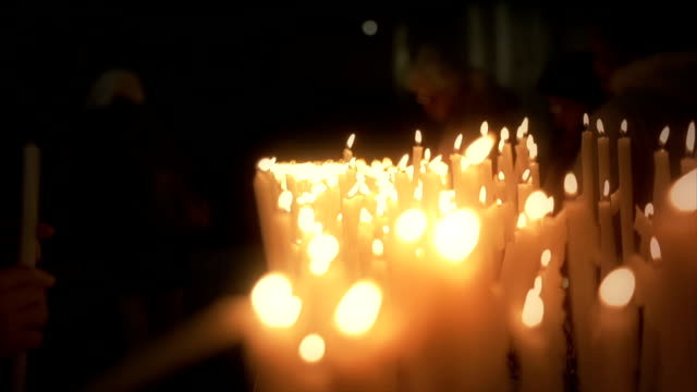 Candle Lights in rows video