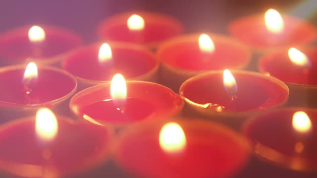 Candle lights. video
