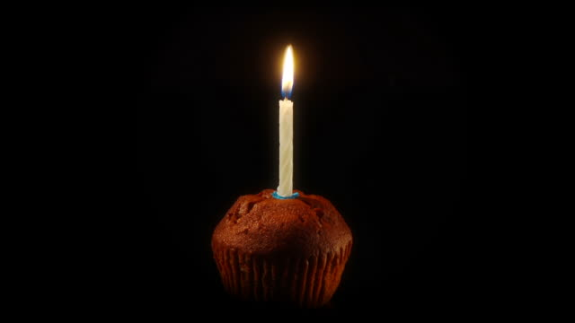 Candle on a Cake - Time Lapse NTSC 24p video