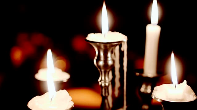 Candle (Christmas, new year, holiday) video