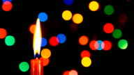 Candle with Particle Background video