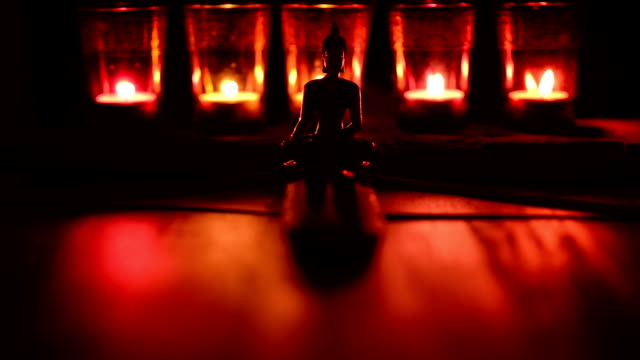 candles and incense stick buddha video