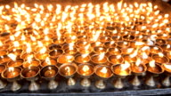 Candles at temple in Kathmandu, Nepal video