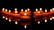 Candles dancing. video