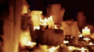 Candles In A Group Seamless Loop - Full HD video