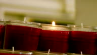 Candles in Catholic church 2 video