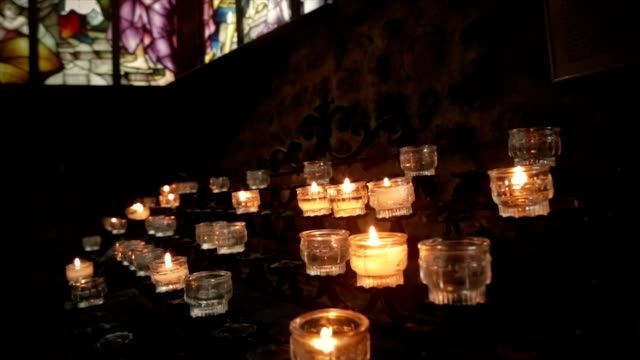 Candles in church video