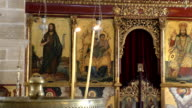 Candles in greek orthodox church video