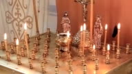 Candles in orthodox church video