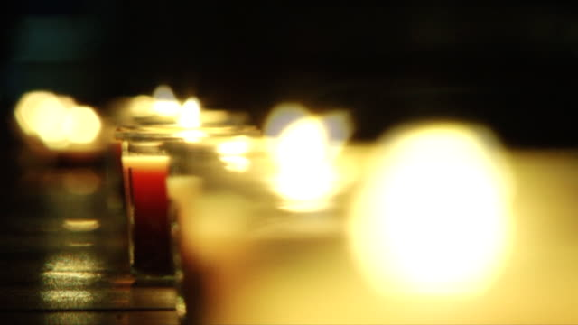 Candles in row video
