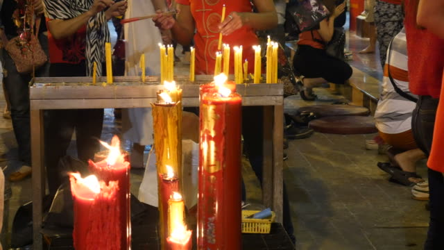 Candles in temple video