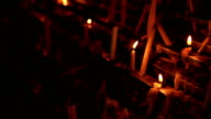 Candles placed in a row. video