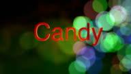 Candy Cane Green Bokeh video