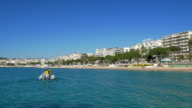 Cannes, France: Establishing Shot of Cannes Beach and Croisette video