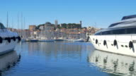 Cannes, France: Establishing Shot of Old Town and Harbour video
