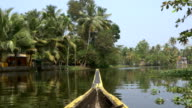 canoe boat on backwaters of Kerala State, South India video