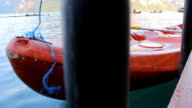 Canoe near jetty video
