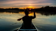 Canoeing at Sunrise video