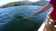 Canoeing on Alta Lake in Whistler, BC, Canada video