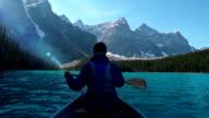 Canoeing on Mountain Lake video
