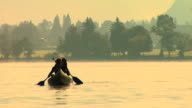 HD: Canoeing On The Lake video